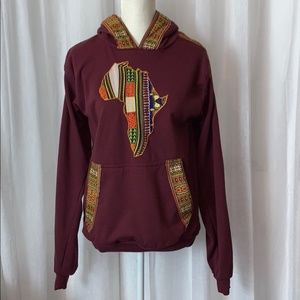 African Art Centre HandCrafted Pull Over Hoodie M